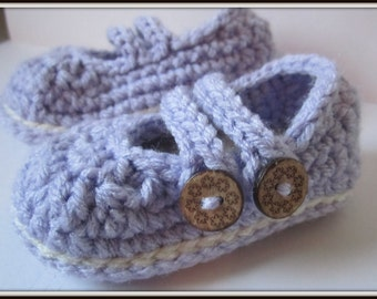 Crochet baby booties, Baby Mary Janes, baby slippers, crib shoes // Many sizes and colors to choose from/ Baby shower gift