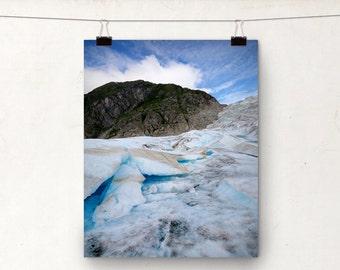 Mendenhall Glacier Ice, Juneau Alaska, Helicopter Trek, Blue Ice