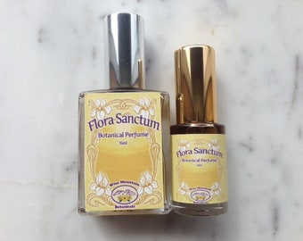 Flora Sanctum - Pure Botanical Perfume - Mimosa Jasmine Amber - Glass Spray Perfume