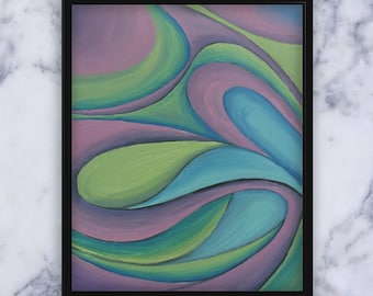 Abstract Waves II - Original Oil Painting