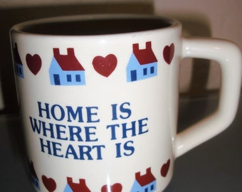 """Vintage """"Home Is Where The Heart Is"""" Mug"""