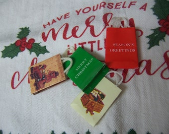 miniature holiday gift bags