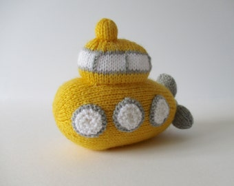 Whirly Submarine toy knitting pattern