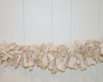 Wedding Garland  Ivory and Tan Measures 3 feet Across and Hangs  Only 25.00 I have other Garlands that Pair with this one