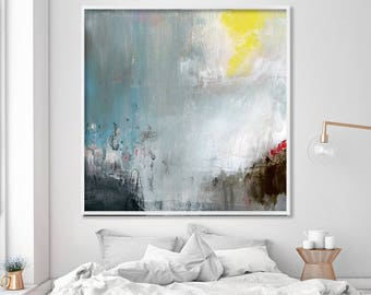 Large Abstract Painting Print, Abstract art print of Acrylic painting for abstract bedroom art, Large painting, Giclee print, Duealberi