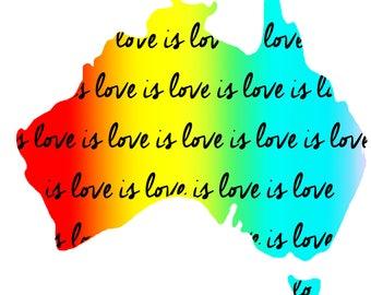 Love is Love is Love (Australia map)