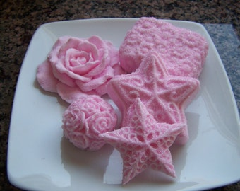 Pink Flowers and Roses Bridal Shower Soap Doodaba