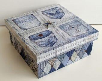 """Storage box wooden """"Pocket"""" """""""