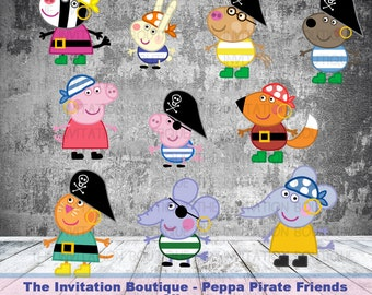 Peppa Pig Inspired Pirate Clipart Pack - BULK BUY discount !