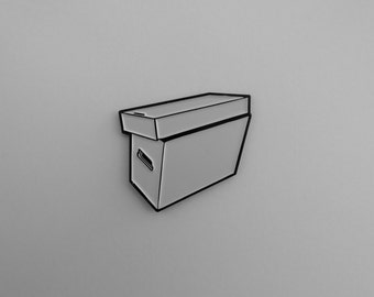 Comic Book Short Box Soft Enamel Hat Lapel Pin
