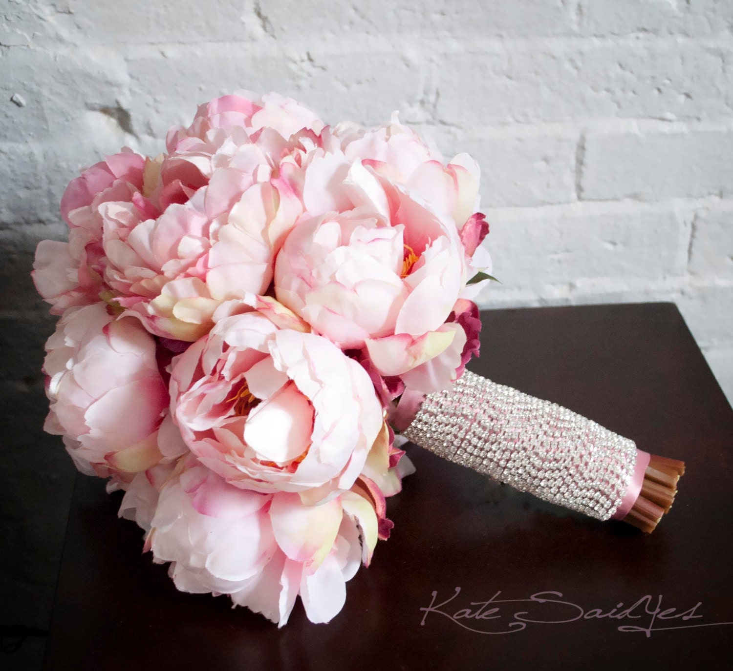 Peony bouquet wedding bouquet silk bouquet bridal bouquet zoom izmirmasajfo Images