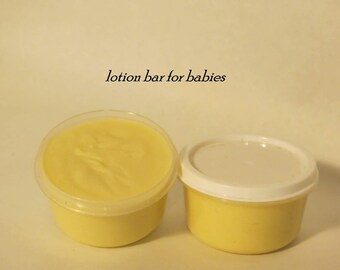 Lotion bar for infants and children