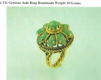 Genuine Vintage Jade Ring -- Handmade