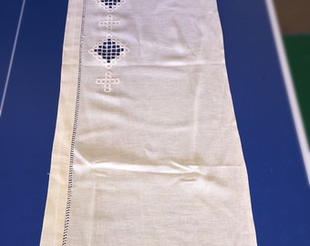 Four Hardanger lace panels