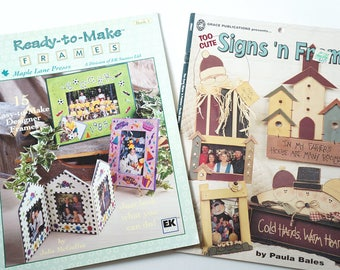 Two Frame Books, Ready to make Frames, Too Cute Signs and Frames, hand made Frame Books