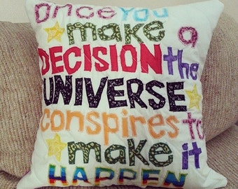 Inspirational Quote pillow