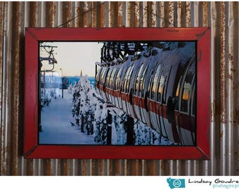 Gondola Sunset metal print - Whitefish Mountain Resort, Whitefish, Montana