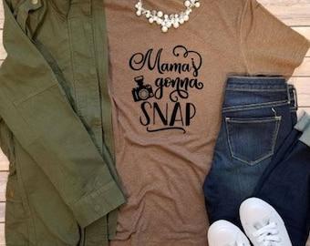 Mamma's Gunna Snap Tee, Graphic Tee, Mom Tee, Woman's Tee