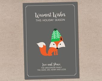 Cozy Fox: Holiday Card
