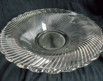 Vintage Federal Glass Diana Centerpiece Bowl