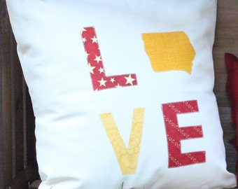 Red & Yellow LOVE Pillow