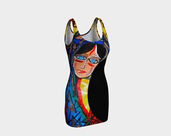 ArtzOnMe Face It Bodycon Dress