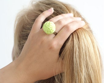 Neon beaded balls fabric ring thread cotton for women textile natural white geometry