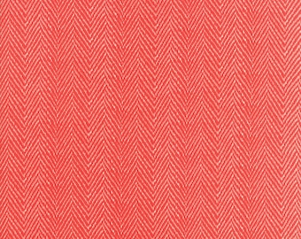 Hazel and Plum - Herringbone in Pomegranate Red: sku 20295-11 cotton quilting fabric by Fig Tree and Co. for Moda Fabrics