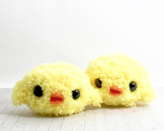 Kawaii Chick - Cute Chick - Plush Toy - Easter Gifts - Cute Keychain - Amigurumi Chicken - Kawaii Amigurumi - Mini Chick Toy - Cute Plush