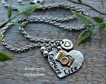 Camera Necklace, Photographer Necklace, Capture Life, Camera Jewelry, Camera Necklace, Gift for Photogrpaher