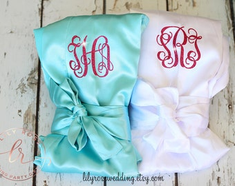 Bridesmaid Robes, Personalized Bride Robe, Bridal Robes, Getting Ready Robe, Bridal Shower, Wedding Robe, Wedding Gift, Mother of the Bride