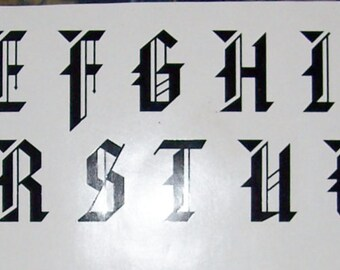 """5"""" Vinyl Letter Decals, All 26 letters or 26 of one letter"""
