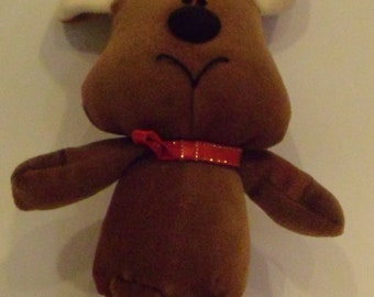 Moose Christmas Doll
