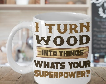 Gifts for the Woodworker/Manual workers/handyman&some one into basic hand woodworking/woodwork-magazine/ tools/equipment White 11Oz mug/cup