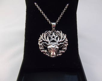 Stunning Stag of the Wild Woods Silver Pendant and Chain