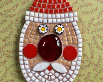 NEW ** Fun Lily Mosaics D.I.Y. Mosaic Santa Kit for adults and children