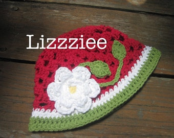 PATTERN Berry Blossom Crochet bucket Hat PDF - make super cute and easy girls hats - baby toddler child - Instant Digital Download