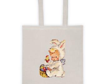 Easter Basket Children Party Favor Candy Bag Lunch Bag Tote Bag Version 4
