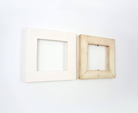 5x5 Picture Frame Set of 2 - Pair of Distressed 5x5 Picture Frames ...