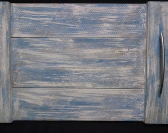 Rustic Wood Serving Tray - Painted