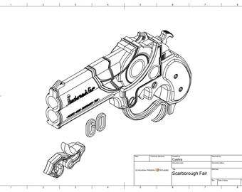 Blueprint Scarborough Fair Gun Bayonetta