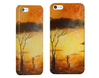 Unique Modern Phone Case for iPhone 5, 6, 7, Samsung Galaxy S4, S5, S6, S7, Multicoloured, Exclusive Prints from Original Laija Art Painting