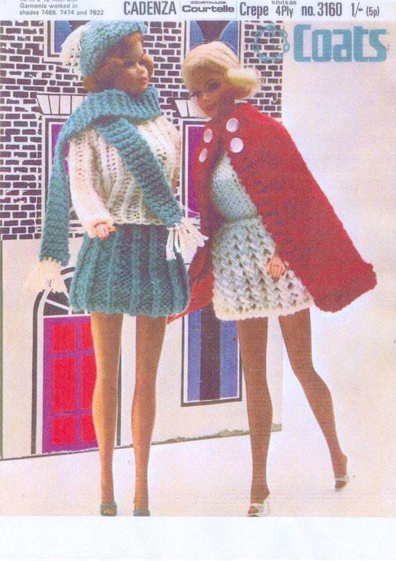 Pdf Vintage Knitting Pattern For Sindybarbie Doll Beautiful
