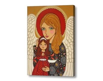 Guardian angel canvas print Angel artwork Angel pictures Guardian angel ornament Guardian angel gifts Guardian angel art Angel painting