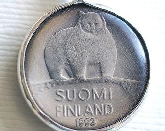 Finland Bear Coin Pendant