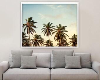 Palm Trees Art Print, Palm Tree, Coastal, Beach House Decor, Palm Tree Art Print, Tropical Wall Art, Summer Decor, Beach Print, Palm Tree