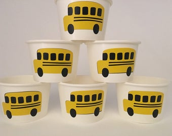 Bus Party Snack Cups