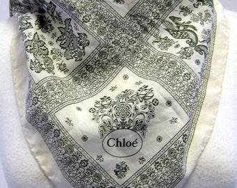 Originals 1970s Vintage Chloe Ditsy Print Silk Scarf