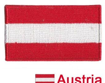 Small Austria Flag Iron On Patch 2.5 x 1.5 inch Free Shipping