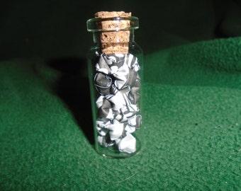 Black & White Mini Origami Star, Glass Jar